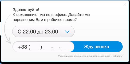Виджет обратного звонка CallUpper – лучший метод удержания посетителей сайта.